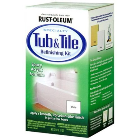 Rust-Oleum 7860519 Tub And Tile Refinishing 2-Part Kit, White, Prepare and paint surface the same day with a tough, 2-part epoxy acrylic formula that.., By (Magic Tub And Tile Refinishing Kit Instructions)
