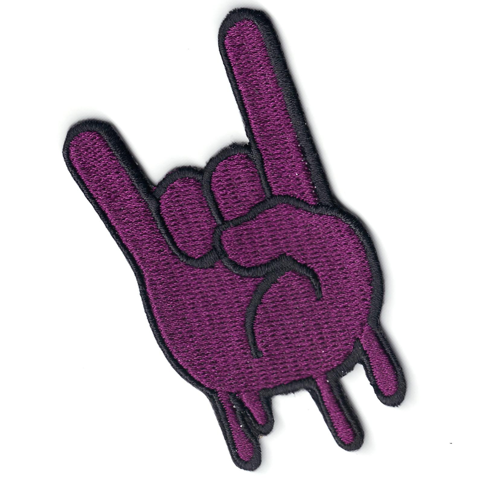 Purple Syrup Houston Hand Emoji Iron On Patch