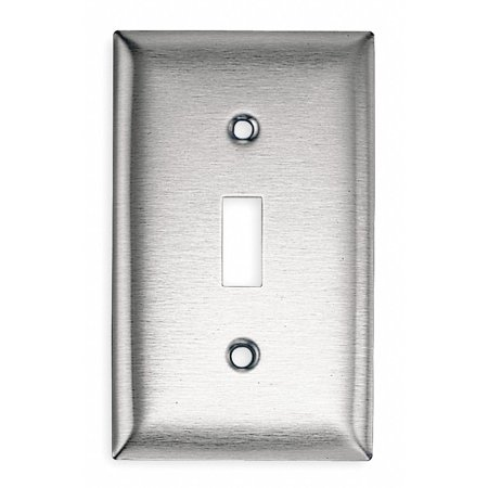 Silver Metal Toggle (Toggle Switch Wall Plate, Silver, Number of Gangs: 1, Weather Resistant: No )