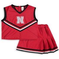 Nebraska Cornhuskers Girls Toddler Two-Piece Cheer Set - Scarlet