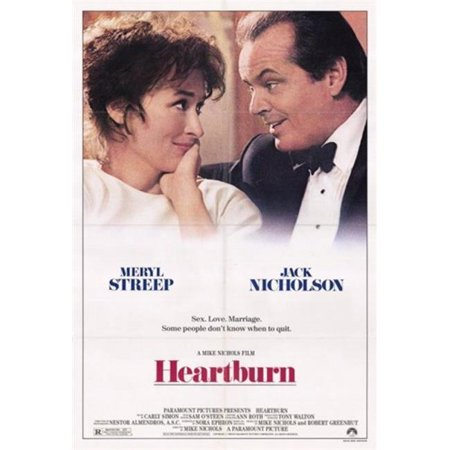 Posterazzi MOV248328 Heartburn Movie Poster - 11 x 17 in.