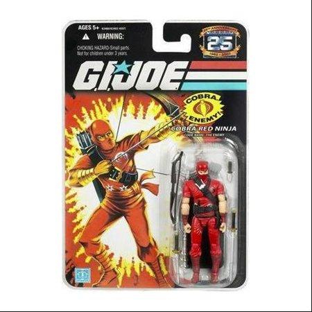 GI Joe 25th Anniversary Wave 3 Cobra Red Ninja Action Figure - The Red Ninja