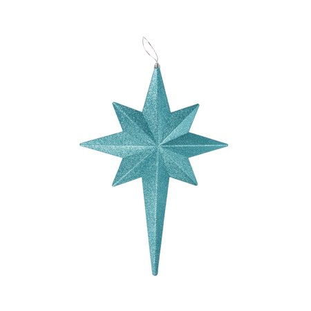 "20"" Turquoise Blue Glittered Bethlehem Star Shatterproof Christmas Ornament"