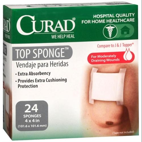 Curad Top Sponges 4 Inches X 4 Inches 24 Each (Pack of 2)
