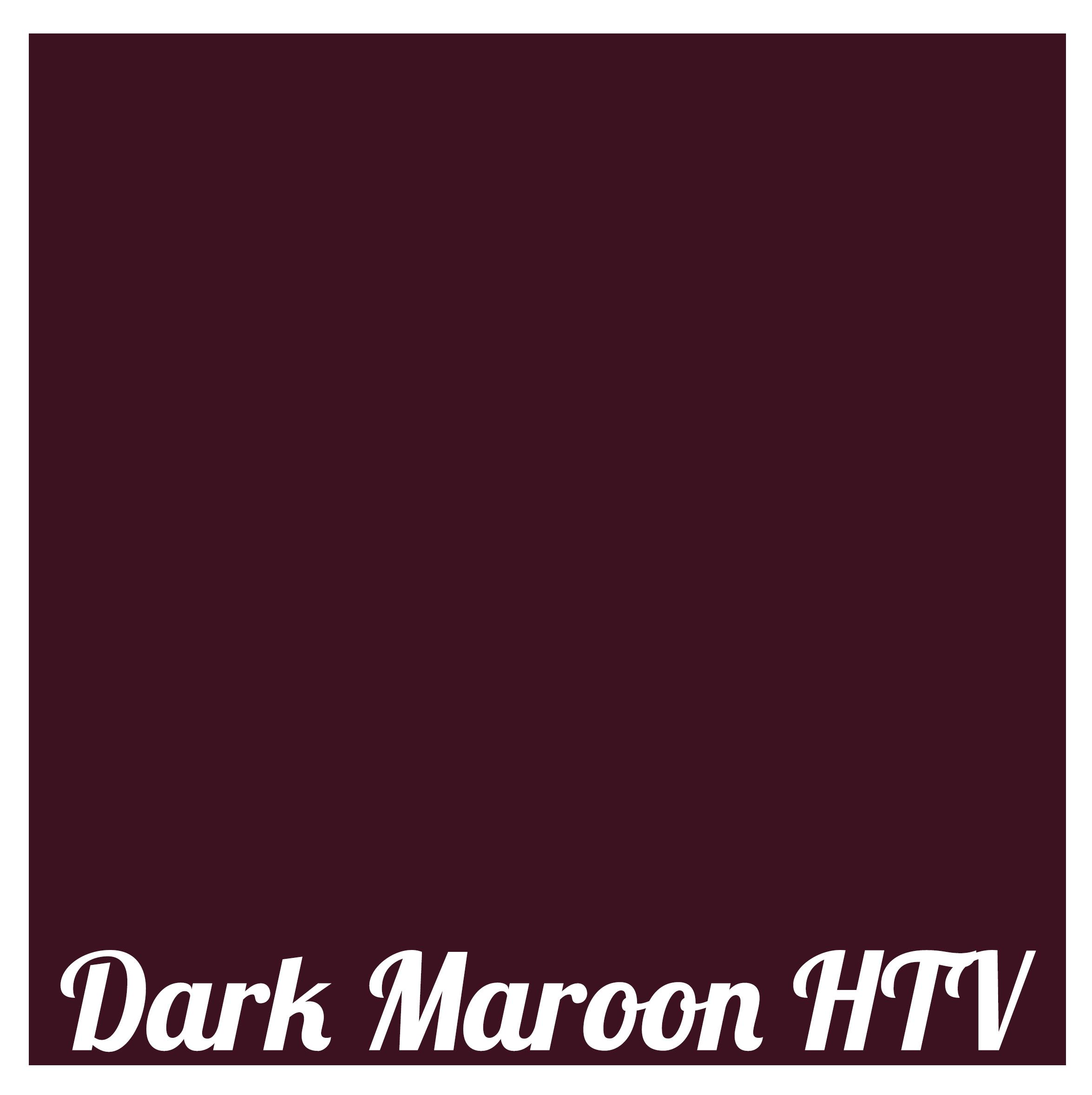 """Kate's Craft Store - 3 sheets of 12"""" x 15"""" Dark Maroon Siser Easyweed Heat Transfer Vinyl"""