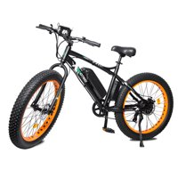 """Ecotric 26"""" 36V 500W Fat Tire Electric Bicycle 26X4"""" Removable Battery 7-Speed"""