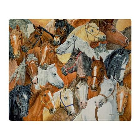Blanket Appaloosa Horse - CafePress - Dee's Horse Blanket Stadium Blanket - Soft Fleece Throw Blanket, 50