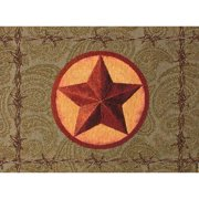 Manual Woodworkers & Weavers Western Star Backed 18'' Placemat