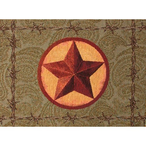 Manual Woodworkers & Weavers Western Star Backed Placemat