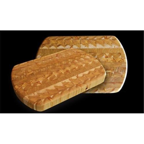 Larchwood ceb 38. 1 x 24. 1 x 3. 8cm Kitchen Knives & Cutlery Accessories Wood End Curve Cutting Board