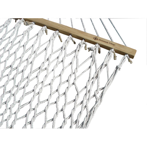 Cotton Rope Hammock, Double (Natural) by Vivere Hammocks