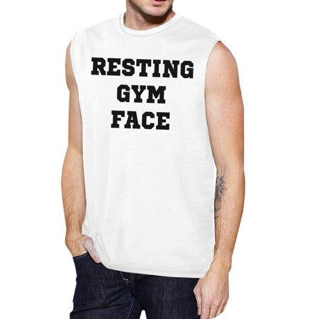 8f681d354 365 Printing - RGF Mens White Workout Tank Top Funny Workout Muscle Shirt  For Gym - Walmart.com