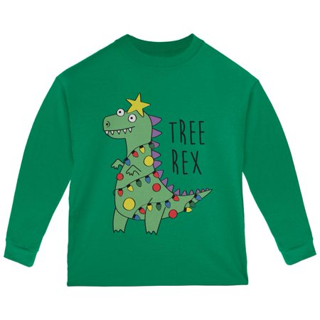 - Christmas Tree Rex T-Rex Funny Dinosaur Toddler Long Sleeve T Shirt