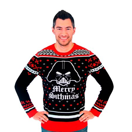 Star Wars Darth Vader Merry Sithmas Adult Ugly Christmas Sweater (Ugly Christmas Sweater Star Wars)