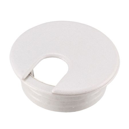 Computer Desk Plastic Round Grommet Wire Cable Hole Covers Gray 35mm Dia 30pcs