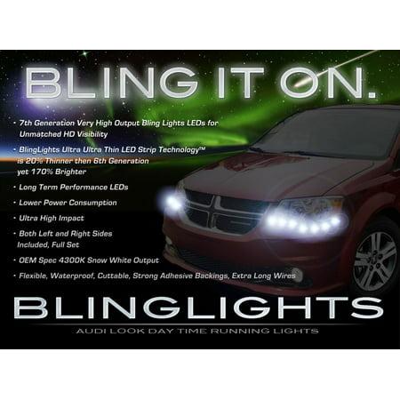 - Dodge Grand Caravan LED DRL Light Strips for Headlamps Headlights Head Lights Lamps LEDs DRLs