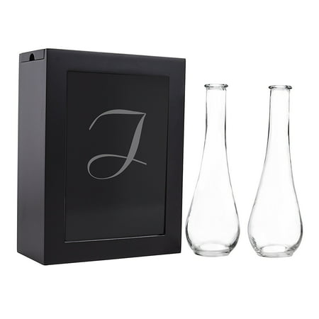Sand Ceremony Shadow Box Set, Letter I, Black, Set Includes Large shadow box, Custom engraved glass insert, Two pouring vases By Cathy's Concepts It comes to you in New and Fresh state A top trending alternative for the traditional unity candle, the Unity Sand Ceremony Shadow Box Set comes complete with two pouring vases, an easy to open shadow box and personalized glass insert. Sand not included. What you see is what you will get