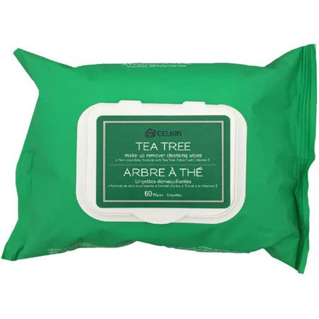 Celkin Tea Tree Make-Up Remover Cleansing Wipes, 60 sheets ...