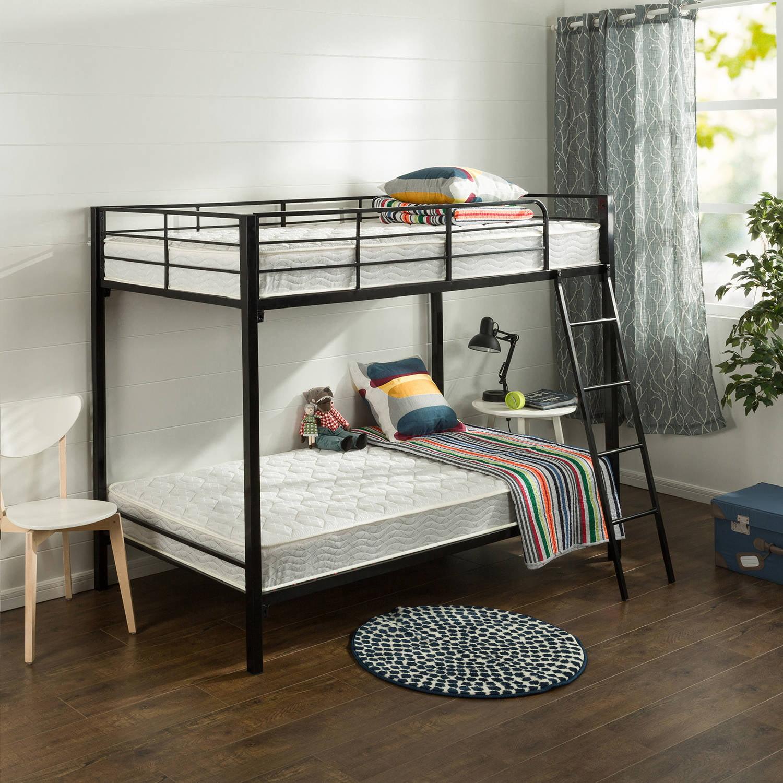 "Slumber 1 Comfort 6"" Twin Pack Bunk Bed Spring Mattress, Twin over Twin"