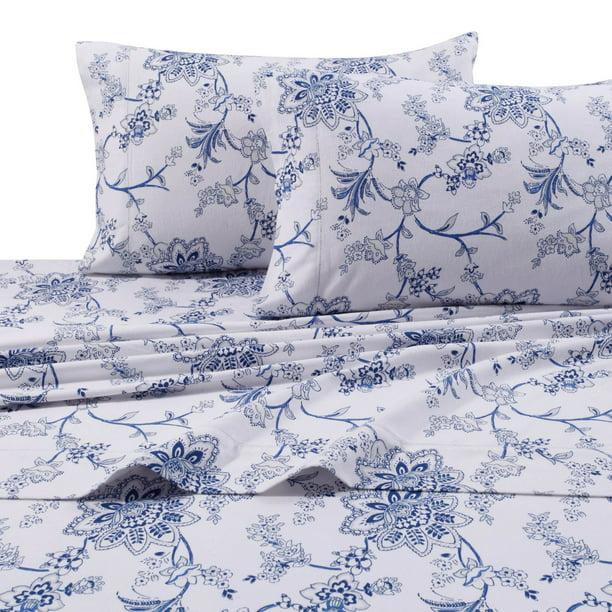 Heavyweight 200 Gsm Floral Printed Extra Deep Pocket Flannel Sheet Set Queen Walmart Com Walmart Com