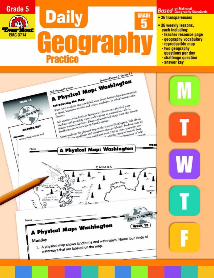Evan-Moor Daily Geography Practice Book, Grade 5 by