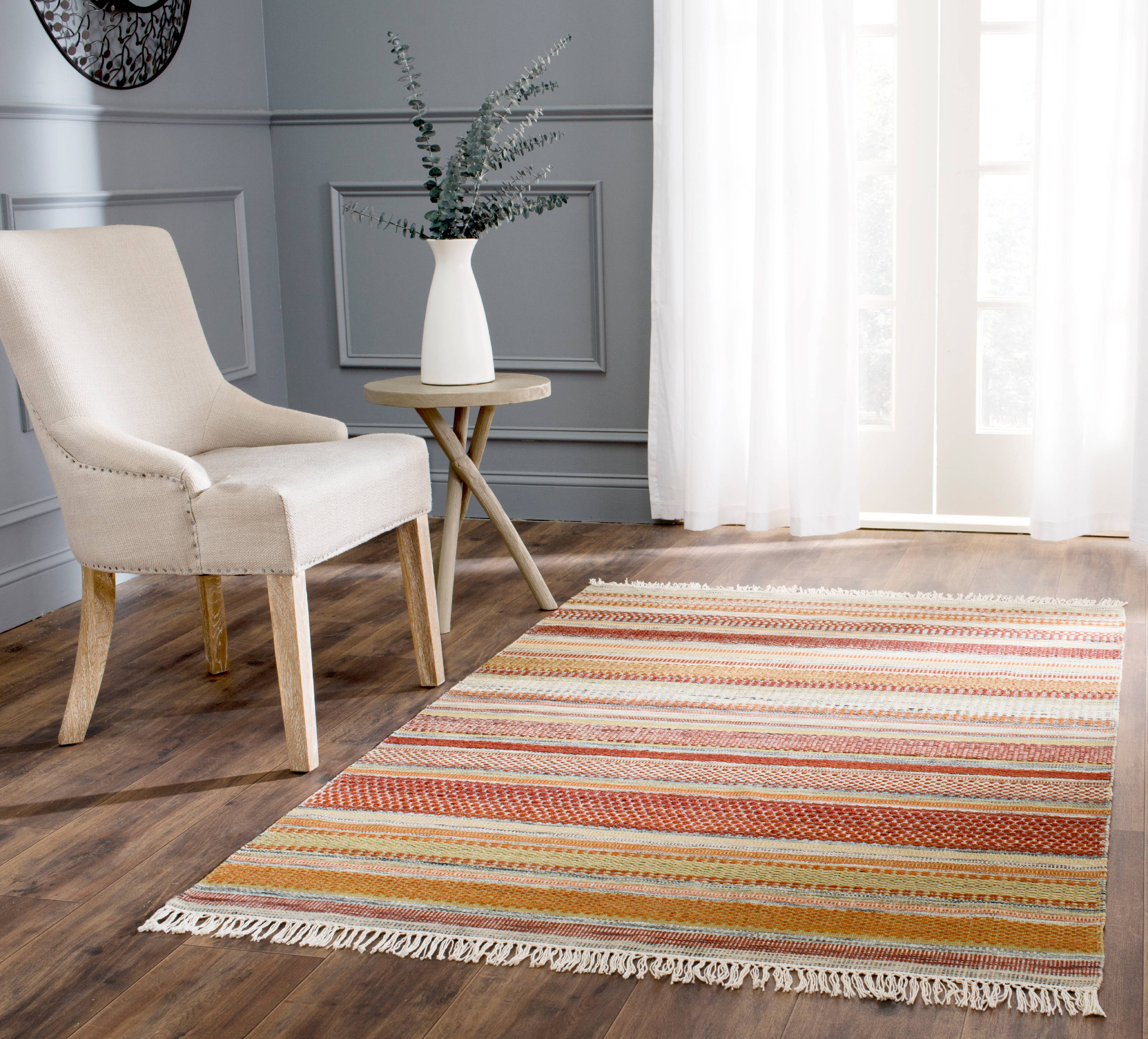 Safavieh Striped Kilim Ethel Wool Area Rug Or Runner Walmart Com