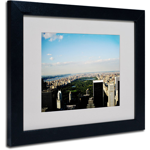 "Trademark Fine Art ""NYC Skies"" Matted Framed Art by Ariane Moshayedi, Black Frame"