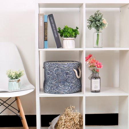 "Storage Bin Toy Cube Box Organizer for Shelves 13"" x 9.8"" White Spray Style - image 1 de 8"