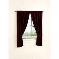 Mainstays Bennett Heavyweight Textured Curtain Panel Pair Available In Multiple Sizes And Colors