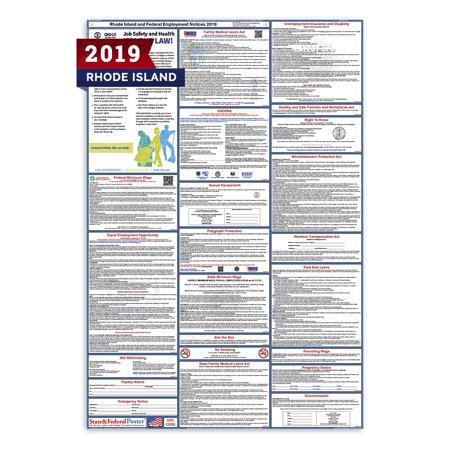 2019 Rhode Island State and Federal Labor Law Poster