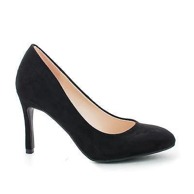 Jessie01 by Bamboo, Almond Toe Slip On Classic Stiletto Heel Work Dress
