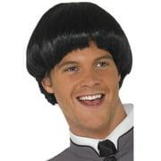 Adult Retro Beatles Swinging 60s Black Mod Bowl Mens Wig Costume Accessory