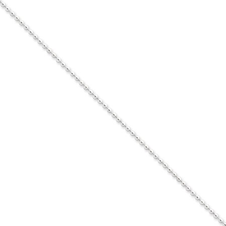 Sterling Silver 18in 2mm Beaded Necklace Chain - Black And White Bead Necklace
