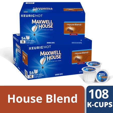 - (2 Pack) Maxwell House House Blend Coffee K-Cup Packs 54 ct Box