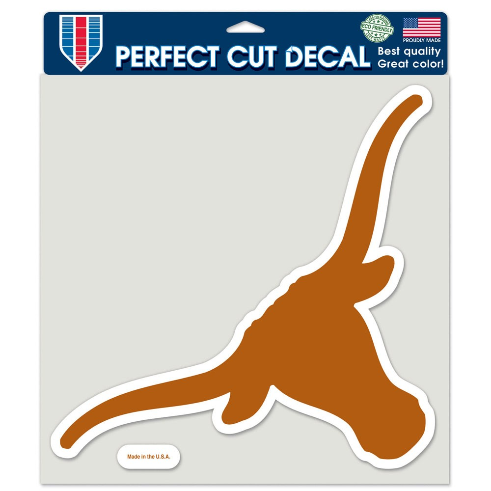 Texas Longhorns Official NCAA 8 inch x 8 inch  Die Cut Car Decal by Wincraft