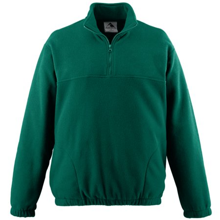 Boys' Chill Fleece Half Zip Pullover L Dark Green (Adult Chill Fleece)