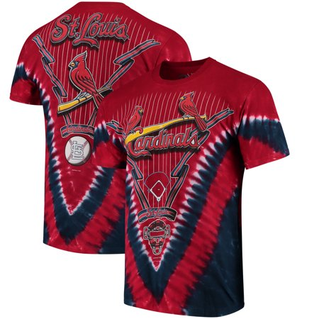 Rawlings St Louis - St. Louis Cardinals Tie-Dye T-Shirt - Red