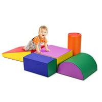 Gymax Crawl Climb Foam Shapes Playset Softzone Toy Toddler Preschoolers Kids