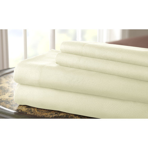 Hotel Collection Solid 4 piece sheet set Ivory Cal. King