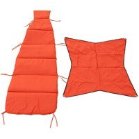 """76"""" Orange Cushion and Canopy Set for Cloud-9 Lounger"""
