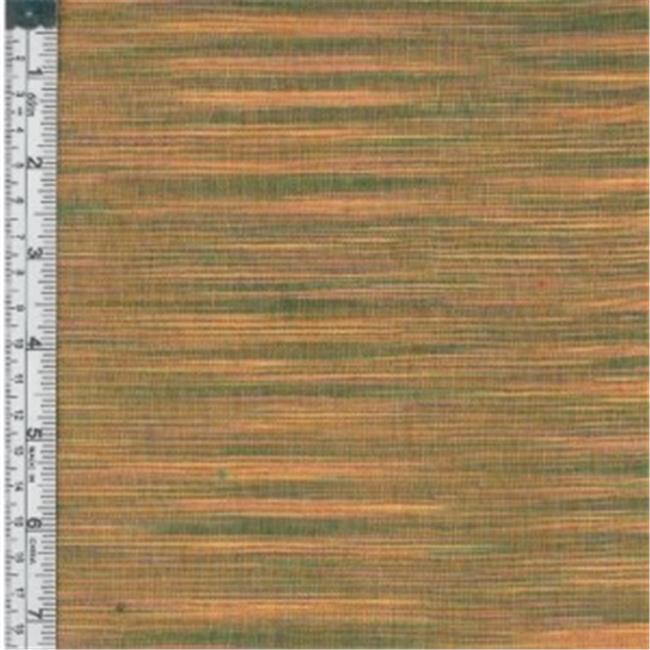 Textile Creations WR-001 Winding Ridge Fabric, Yellow And Green Ikat With Slub, 15 yd.