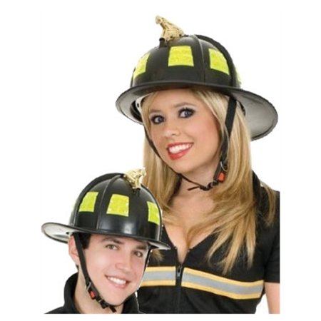 Authentic Adult Black Adult Fire Fighter Costume Replica - Firefighters Accessories