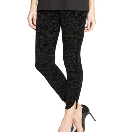 Nordstrom New Black Womens Size Medium M Flocked Leggings Pants