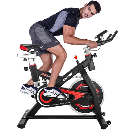 JUMPER Health & Fitness Indoor Cycling Exercise Stationary Bike with Monitor and Flywheel Bike