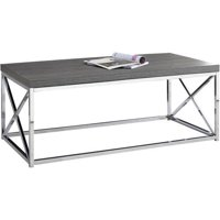Monarch Coffee Table Grey With Chrome Metal