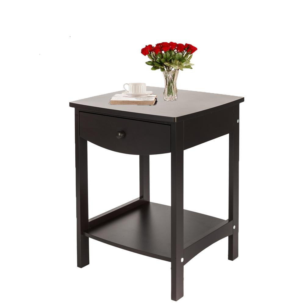 Ktaxon Night Stand Bedside Table Bedroom Furniture Stroage ...