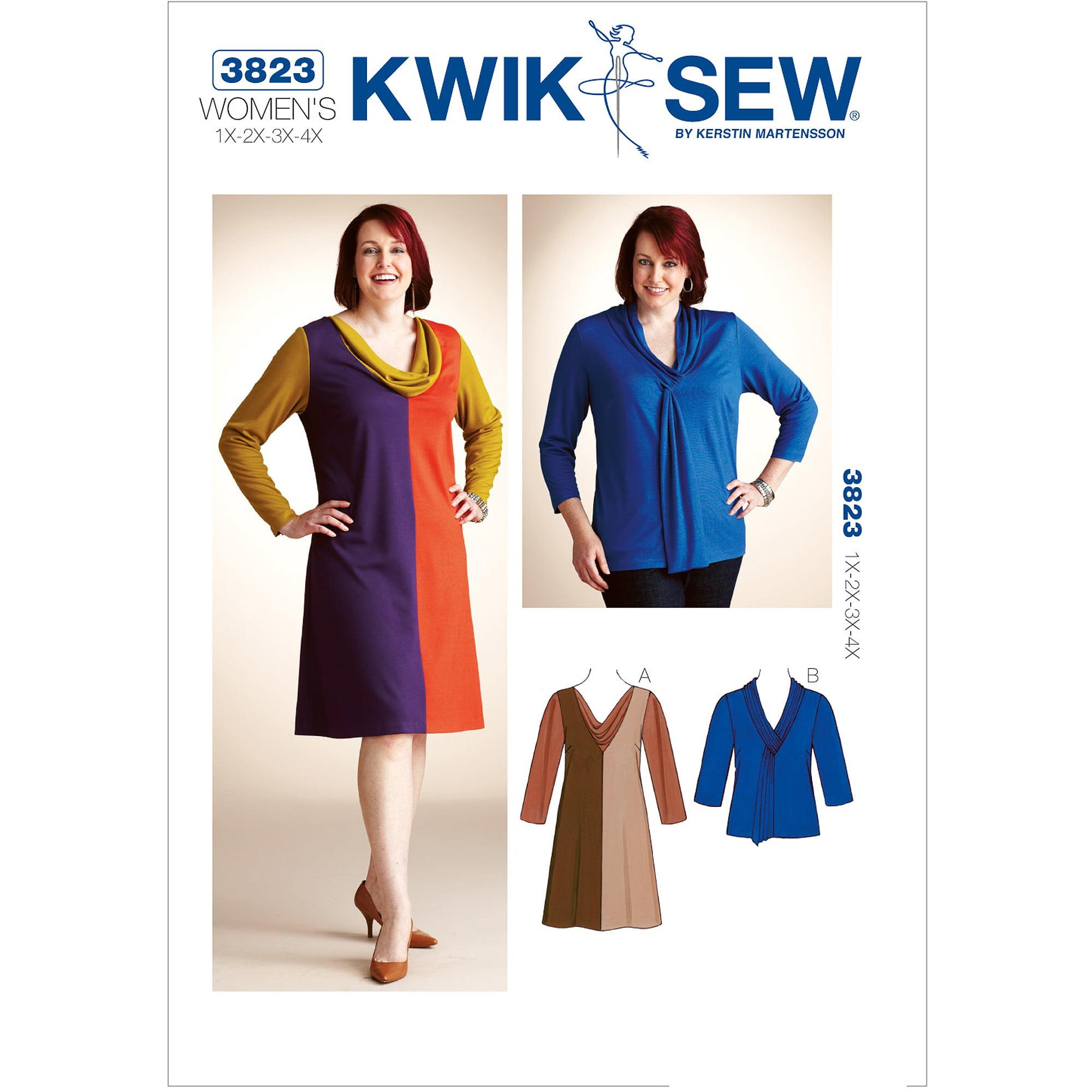 Kwik Sew Pattern Dress and Top, (1X, 2X, 3X, 4X)