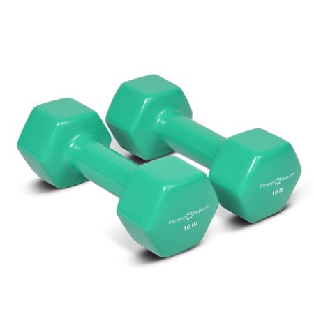 Fitness Republic Vinyl Dumbbell 3 Pairs Set (10lb, 12lb & 15lb)