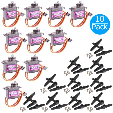 Mini Rc Servo - 10-pack MG90S Mini Digital Servo Metal Geared Micro Servo Motor for RC Helicopter Plane Boat Car