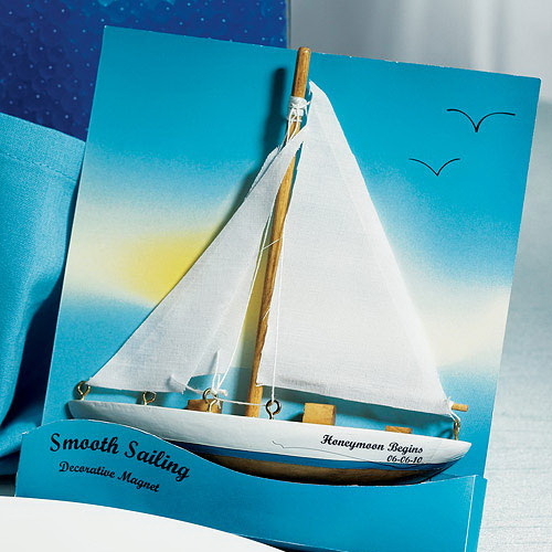 "Weddingstar 8771 ""Smooth Sailing"" Sailboat Magnet Gift Favor"